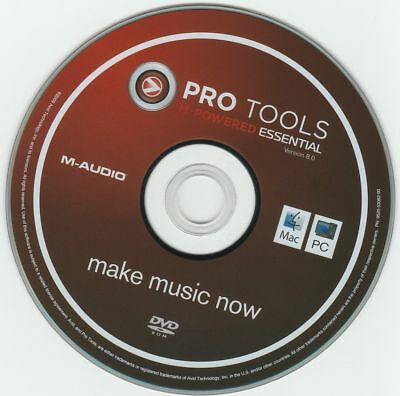 AVID / M-Audio, Pro Tools M-Powered Essential 8   software disc for Windows/PC