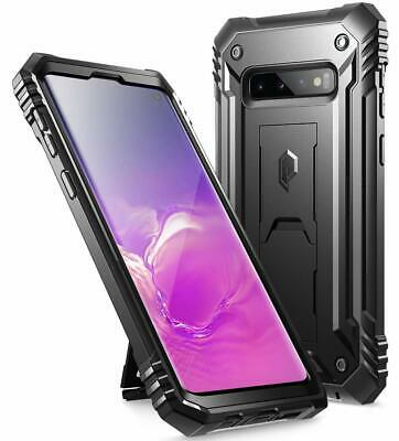 Galaxy S10 Rugged Case with Kickstand, Heavy Duty Military Grade Full Body Cover