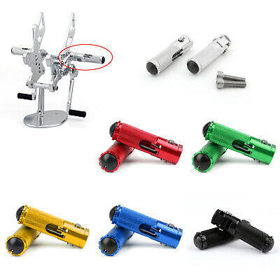CNC Folding Foot Pegs Footpeg Rear Set Rest Racing Fit Universal Motorcycle A7