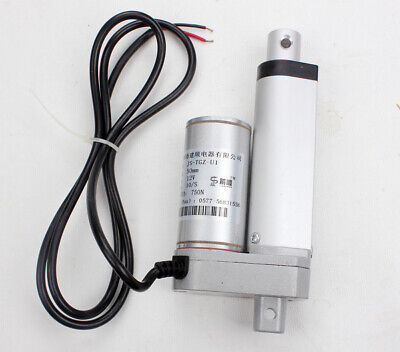 "12V 50mm Heavy Duty 2"" Linear Actuator Motor Stroke 750N Max Lift For Autos"