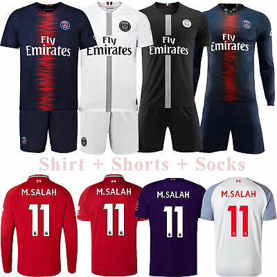 18/19 Football Soccer Club Jerseys Kits Short Sleeve Adult Outfits Team Suits