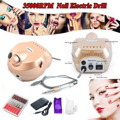 35000RPM Electric Nail File Drill Set Manicure Pedicure Art Machine Kit AU