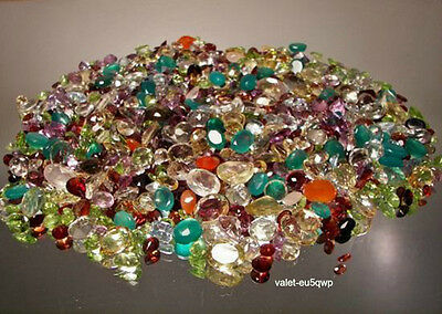 100CTS. Natural Gemstones Mixed Lot Loose Multi Faceted Gems Certified Authentic