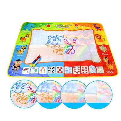 Drawing Water Pen Painting Writing Magic Doodle Mat Board Kids Boys Girls Toy AU