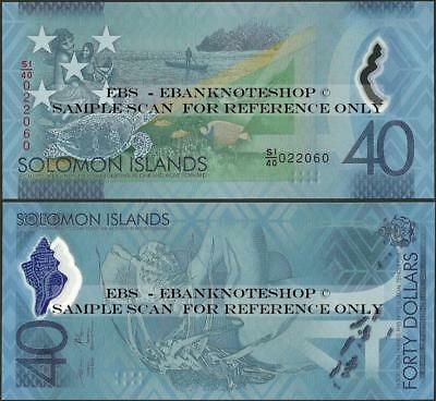 Solomon Islands,PNew,40 Dollars,2018,UNC,Comm only 100k worldwide @EBS