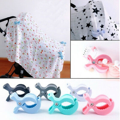 Car Seat Accessories Baby Lamp Pram Stroller Peg To Hook Cover Blanket Clip TOP