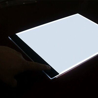 A4 LED Drawing Board Art Stencil Tracing Table 4mm Light box Pad 3 brightness CD