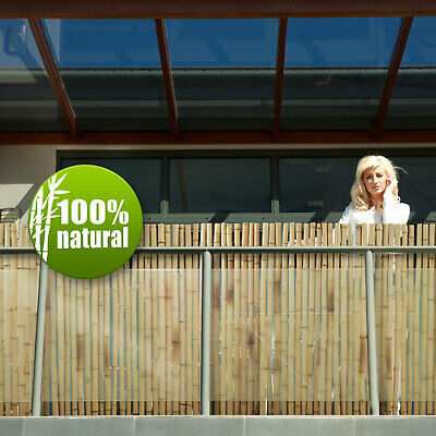 Bamboo Screening Garden Fencing Thick Cane Fence Rolls Balcony Privacy Panels
