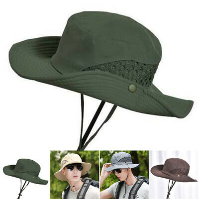 94202afb 1* Mens Summer Fishing Unisex Sunscreen Bucket Hat Breathable Mesh  Fisherman Cap