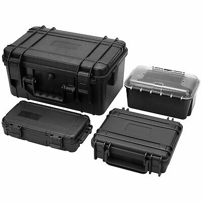 Protective Equipment Camera Case Hard Carry Plastic Box W/ Removable Foam 3 Size