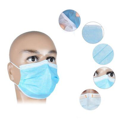 50Pcs Disposable Medical Dustproof Surgical Face Mouth Masks Ear Loop RY