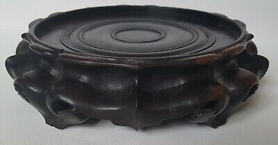 Magnificent And Rare Large Solid Heavy Zitan Wood Antique Chinese Display Stand