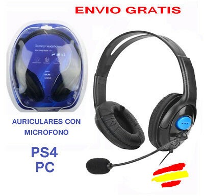 AURICULARES con microfono para PS4 Playstation4 ONLINE PC  Gaming Movil Cascos