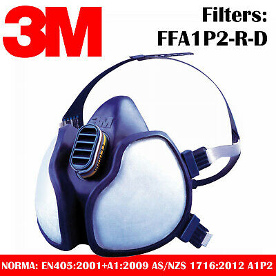 Respiratory Mask 3M - Airbrushing Protection Particules Gas Vapour Filters