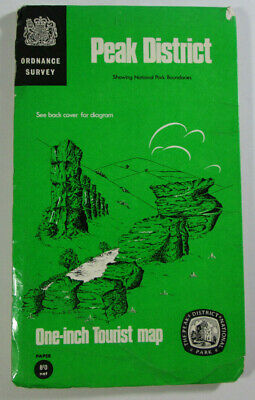 1963 Old Vintage OS Ordnance Survey One-Inch Tourist Map Peak District