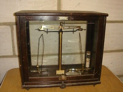GARAGE FIND - ANTIQUE/VINTAGE LABORATORY SCALES by W.B.NICOLSON of GLASGOW.