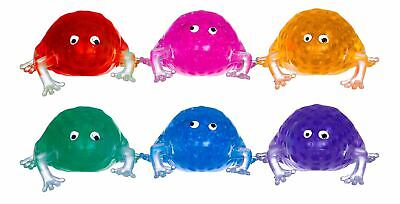 """3"""" Squishy Beads Frog Squeezy Slime Splat Ball Animal Kids Party Bag Filler Toy"""