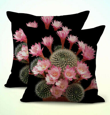 US Seller- set of 2 blossom cactus flowers succulent cushion cover pillow covers