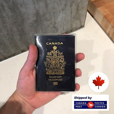 Canadian Clear Transparent Passport Cover Holder Protector