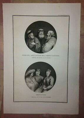 RUSSIA PEOPLE BAY OF LANGLE 1797 LA PEROUSE LARGE ANTIQUE ENGRAVED VIEW (35x50)