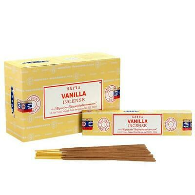Original Satya Vanilla Incense Agarbatti Scented Sticks Hand Made In India