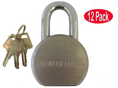 Lot of 12 - Steel Gate Padlock - Short Shackle - Keyed Alike + 36 Keys