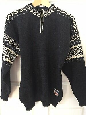 f34f2d37c56 Vintage DALE OF NORWAY 1 4Zip Wool Ski Sweater 1960 Squaw Valley Olympic  Size M