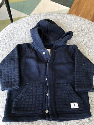 Country Road Navy Jacket With Hood (Size 12-18m / Size 1)