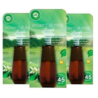 Air Wick Essential Mist Aroma Air Freshener Refill 20ml Orange & Lime Pack Of 3