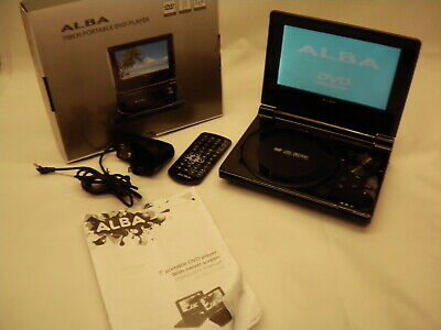 ALBA PDVD-196B 7 inch portable Rechargeable In Car DVD Player with remote #562