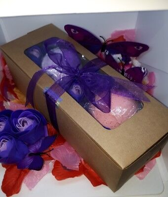 Bath Bombs with Rose Soaps Pamper Gift Box, Pack # 5, Approx 370gm - 390gm
