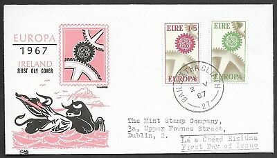 Ireland 1965, Sc 232 - 3, Hib 56C, Europa Cept Illustrated First Day Cover (Z48)