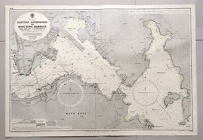 Original Admiralty sea chart map of Hong Kong Eastern Approaches, 1972