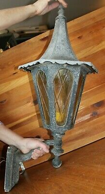 Lot Of 3 Large Wrought Iron Outdoor Sconce Lights Gothic