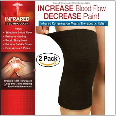d083bbcc34 FDA APPROVED: 2-PK Knee Brace Elastic Sleeve Compression Wrap Joint Support  SM/