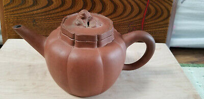 Antique Chinese Yixing Zisha Clay Teapot With Interal Filter