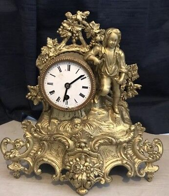 Beautiful French Gilt Ormolu Mantle Clock
