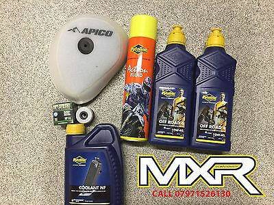 HONDA CRF 450 X SERVICE KIT 2x OIL OFF ROAD 10W-40 + FILTER + COOLANT
