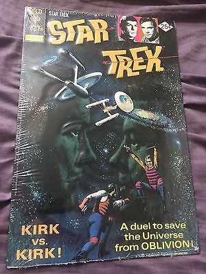 NEW Star Trek KIRK VS KIRK Metal Wall Sign Spock Gold Key Art SEALED 8.5x13