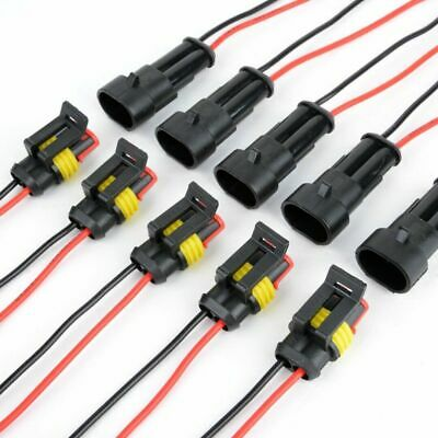 100Pairs 2-Pin Car Waterproof Male Female Two Way Electrical Connector Plug Wire