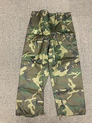 US Military USGI Issue Wet Weather Trousers Pants NEW ARMY Woodland Camo Med