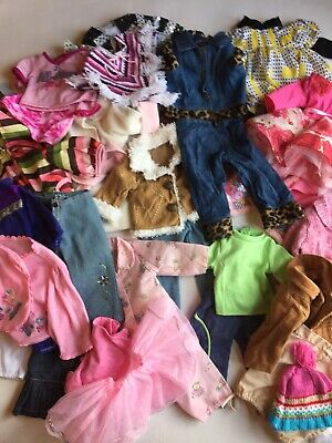 """Doll Clothes for 18"""" Doll Large 32 Pieces Lot Fits American Girl Our Generation"""