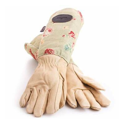 Bradleys The Tannery Floral English Rose Leather Garden Gloves - Slight second