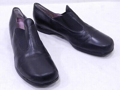 d282ec8b287 Taryn Rose Womens 42 11 Black Leather Slip On Loafers Clogs Shoes made in  Italy