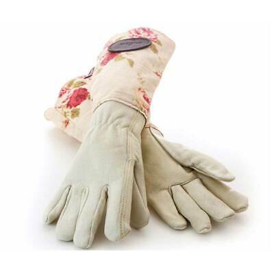 Bradleys The Tannery Pink English Rose Leather Gardening Gloves - Slight second