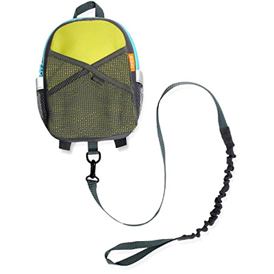 Brica By-My-Side Safety Harness Backpack, Green/Blue, New