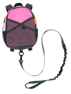 Brica By-My-Side Safety Harness Backpack, Pink/Gray, New