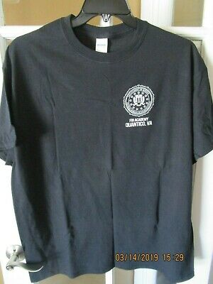 FBI Academy Quantico. VA United States Department Of Justice T-Shirts (3) NWOT