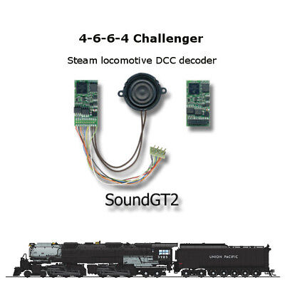 4-6-6-4 Challenger  SoundGT2 DCC decoder  for Bowser Rivarossi Athearn or brass