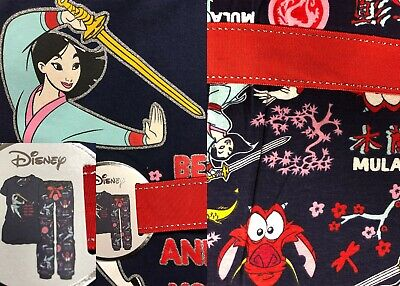 Brand New Primark Disney Mulan Pyjama T-Shirt And Trouser Set Various Sizes